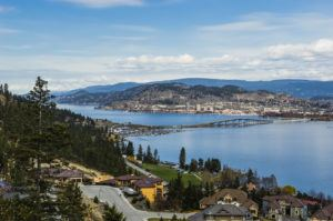 View of Kelowna BC