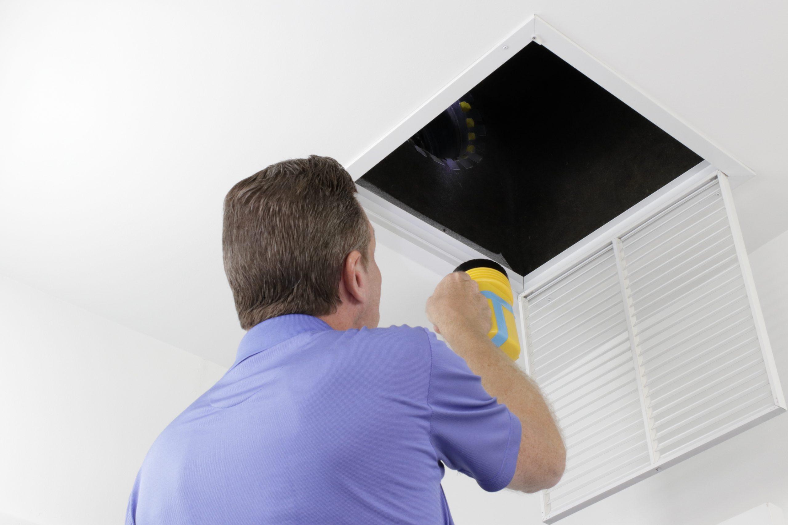 inspecting HVAC system